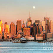 New York City Moonrise IIi Art Print