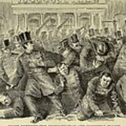 New York City Police Riot Of 1857. Riot Art Print