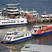 New York City Sightseeing Boats Art Print