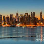 New York City Skyline Morning Twilight IIi Art Print