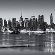 New York City Skyline Morning Twilight Iv Art Print