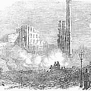 New York: Fire, 1853 Art Print