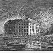New York: Fire Of 1835 Art Print