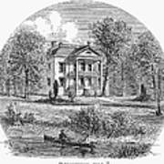 New York: Mansion, 1760 Art Print