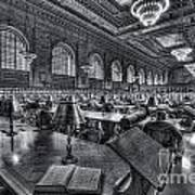 New York Public Library Main Reading Room Vi Art Print by Clarence Holmes