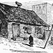 New York: Shanty, 1875 Art Print