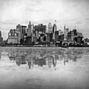 New York Skyline Reflected Art Print