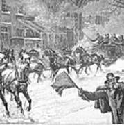 New York: Snowstorm, 1887 Art Print