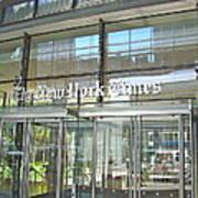 New York Times Reflection Art Print