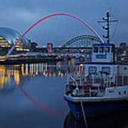 Newcastle Quayside At Night Art Print