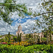 Newport Beach Temple Pine Art Print