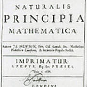 Newtons Principia, Title Page Art Print