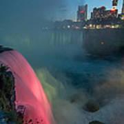 Niagara At Night Art Print
