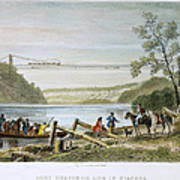 Niagara Falls Bridge Art Print