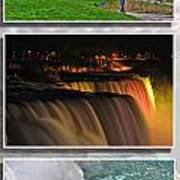 Niagara Falls Usa Triptych Series Art Print