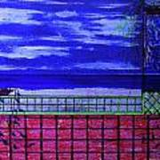 Night At Serene Patio Art Print