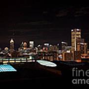 Night Lights Of Atlanta Art Print