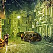 Night Scene In Sicily 2 Art Print