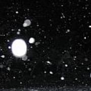 Night Snow Falling Art Print