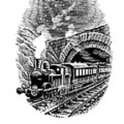 Night Train, Artwork Art Print by Bill Sanderson