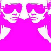 Niki Mirror Pink Art Print