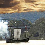 Nina's Canon Scares Ducks Off River Art Print