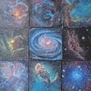 Nine Nebulae Art Print