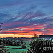 Nisqually Valley Sunrise Art Print
