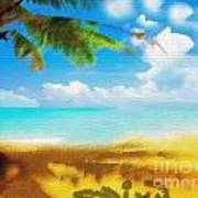 Nixo Landscape Beach Art Print