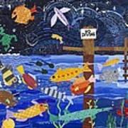 No Diving Art Print by Barbara Esposito