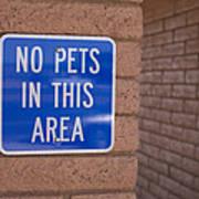 No Pet Sign At Rest Stop Art Print