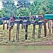 No Texting Zone Art Print