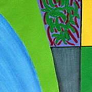 No.352 Abstract Landscape Study Art Print