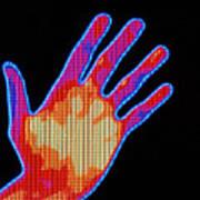 Non-smoker Hand Thermogram Art Print
