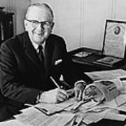 Norman Vincent Peale Was An American Art Print by Everett