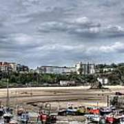North Beach From Tenby Harbour Art Print
