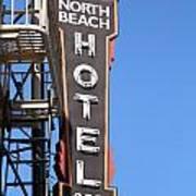 North Beach Hotel San Francisco Art Print