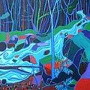 North Woods River 2 Art Print