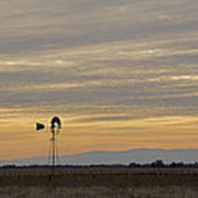 Northern California Windmill Art Print