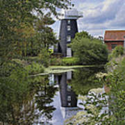 Norton Marsh Mill Norfolk Art Print