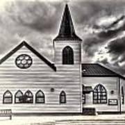 Norwegian Church Cardiff Bay Cream Art Print