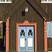Norwegian Wooden Facade Art Print by Heiko Koehrer-Wagner