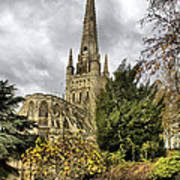 Norwich Cathedral England Art Print by Darren Burroughs