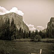 Nostalgic Yosemite Valley Art Print