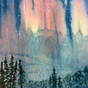 Nothern Lights Country Art Print