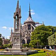 Notre Dame Cathedral Backside Art Print