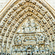 Notre Dame Cathedral Center Entry Art Print