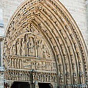 Notre Dame Cathedral Right Entry Door Art Print