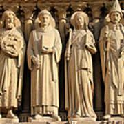 Notre Dame Details 1 Art Print