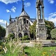 Notre Dame Gardens Art Print